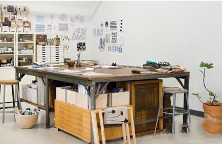 atelier van een designer