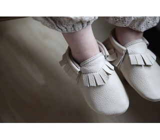 babyslofjes - Traditional Moccasins Putty - Amy & Ivor