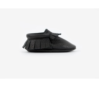babyslofjes - Traditional Moccasins Black - Amy & Ivor