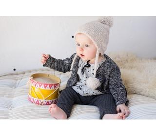 baby bloesje Linda ecru | Buho