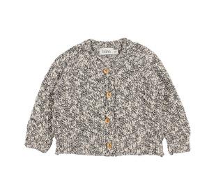 Dani Knit Cotton Flamé Cardigan - grey melange - Búho