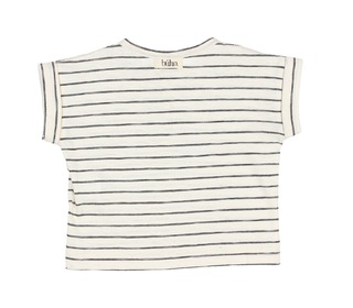 Joss Stripes Cotton T-Shirt - graphite - Búho