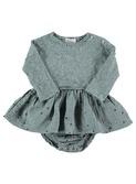 Mar confetti baby girl dress storm grey │ Buho