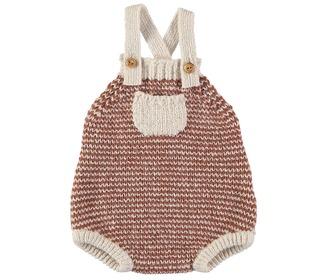 Nuka stripes knit romper Ecru - Búho