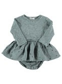 Mar confetti baby girl dress storm grey │ Buho