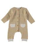 Bubu stripes buttoned jumpsuit Ecru