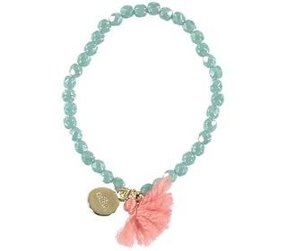 Bracelet mini pom pom rose - Búho