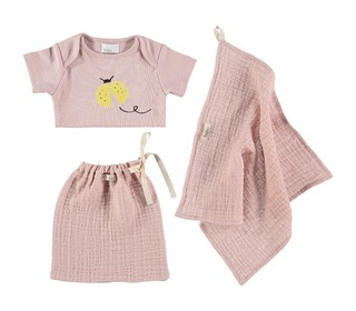 Set baby ladybugs pale rose | Buho
