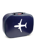 koffer vliegtuig donkerblauw