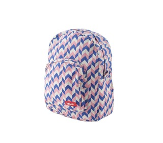 rugzakje MINI printed canvas knit pink - Bakker made with love