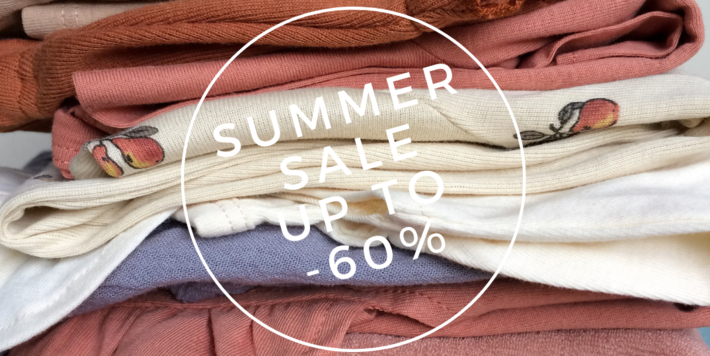 SUMMER SALE • up to -60% discount from 2 pcs or more