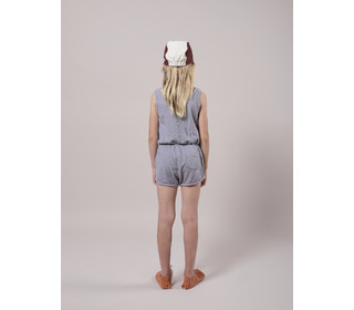 Crosswise stripes fleece playsuit - Bobo Choses