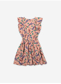 Strokes all over ruffle dress