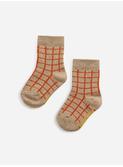 Checkered baby socks