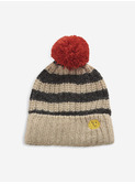 Stripped knitted beanie