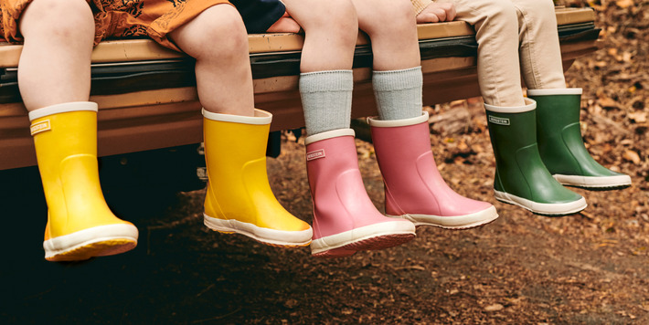 Bergstein - Regenlaarsjes voor kinderen in natuurlijk rubber