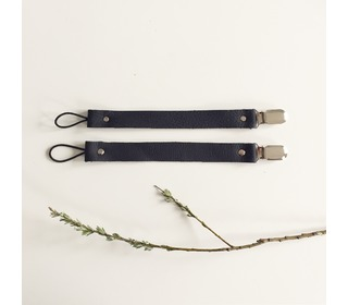 Speenkoord Leather - Black - Bezisa