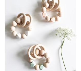 Rammelaar Wooden basics - Mint - Bezisa