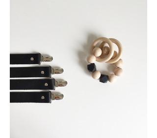 Rammelaar Wooden basics - Black - Bezisa