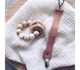 Rammelaar/Bijtring Wooden basics - White - Bezisa