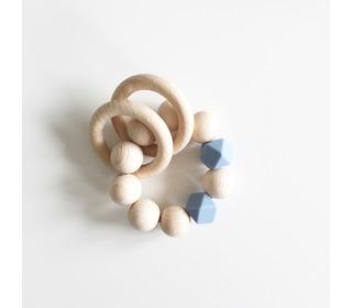 Rammelaar Wooden basics - blue - Bezisa