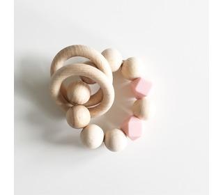 Rammelaar Wooden basics - pink - Bezisa