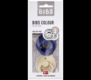 Bibs fopspeen - blister Navy/Vanilla - Bibs