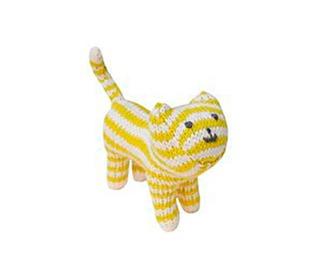 knuffel-rammelaar cat lime - Blabla kids