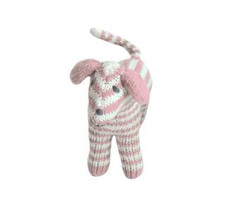 knuffel-rammelaar dog pink - Blabla kids