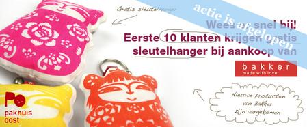 Gratis sleutelhanger bij Bakker made with love