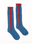 Long Socks Stripe Blue