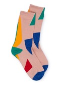 Geometric jacquard socks