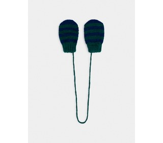 Green Striped Mitten Gloves - Bobo Choses