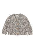 Dani Knit Cotton Flamé Cardigan - grey melange│Buho