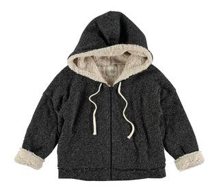 Olivier noir hood sweatshirt | Buho