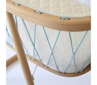 Kumi crib mesh/aqua blue - Charlie Crane