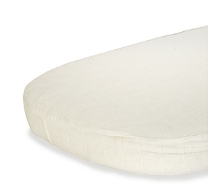 Moumout Papuche Milk Fitted Sheet for Kumi Crib - Charlie Crane