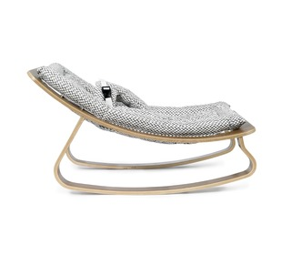 wipstoel baby Rocker Levo Noyer Diamond Black & White - Charlie Crane