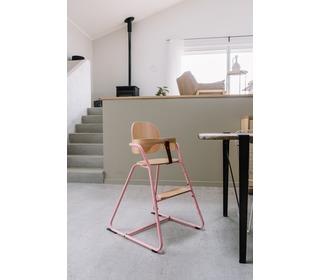 Kinderstoel TIBU Flexible High Chair, Pink - Charlie Crane