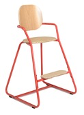 Kinderstoel TIBU Flexible High Chair, Bright Red