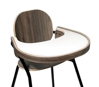 Tibu table tray noyer voor kinderstoel Tibu Black Edition - Charlie Crane
