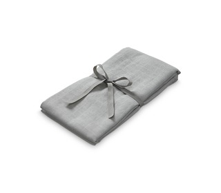 Light muslin swaddle - GOTS - grey - Camcam