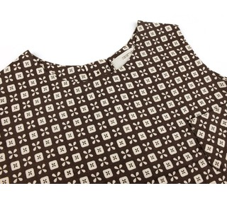 baby top havana - licorice button print - Caramel Baby & Child