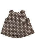 baby top havana - licorice button print