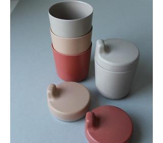 Bamboo mug 3 pack, Fog/Rye/Brick - Cink