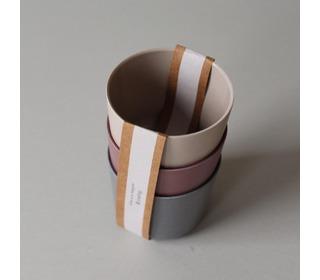 Bamboo mug 3 pack, Fog/Beet/Ocean - Cink