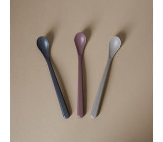 Bamboo feeding spoon 3 pack, Fog/Beet/Ocean - Cink