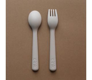 Bamboo toddler cutlery set - fog - Cink