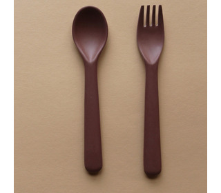 Bamboo toddler cutlery set - beet - Cink