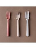 Bamboo toddler fork 3-pack - fog/rye/brick